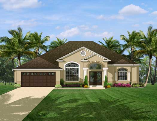 Mediterranean Style House Plans Plan: 95-134