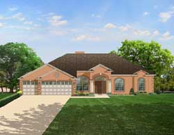 Traditional Style Home Design Plan: 95-137