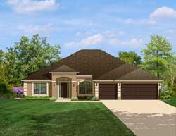 Mediterranean Style Home Design Plan: 95-145