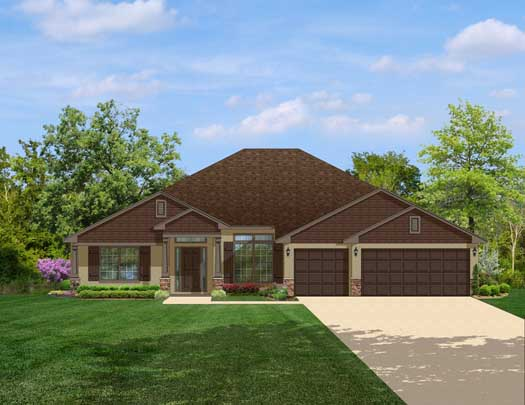 Traditional Style Home Design Plan: 95-148