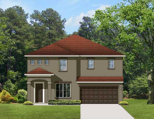 Traditional Style Home Design Plan: 95-161