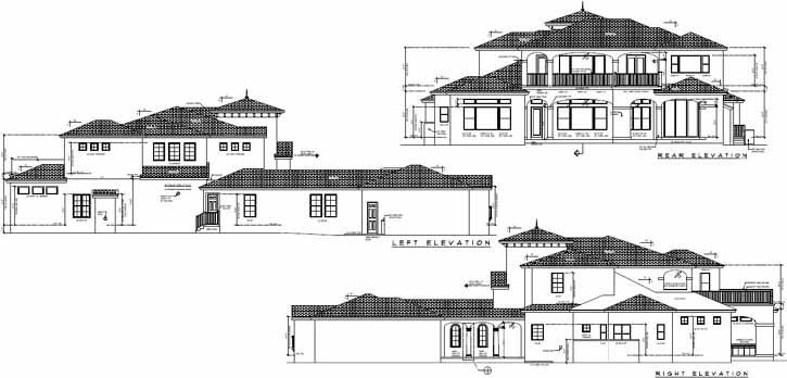 Rear Elevation Plan: 95-167