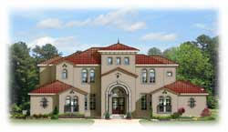 Spanish Style Home Design Plan: 95-167