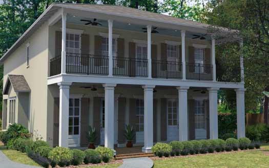 Plantation Style Home Design Plan: 95-168