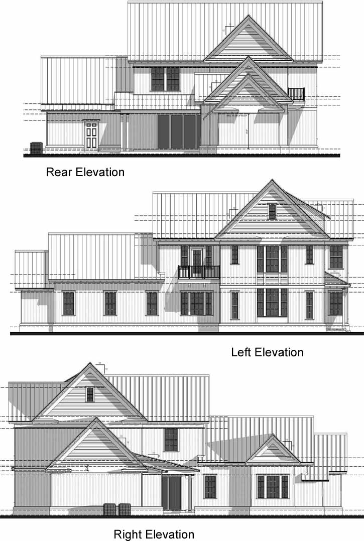Rear Elevation Plan: 95-169