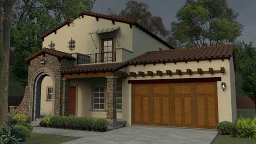 Spanish Style Home Design Plan: 95-170