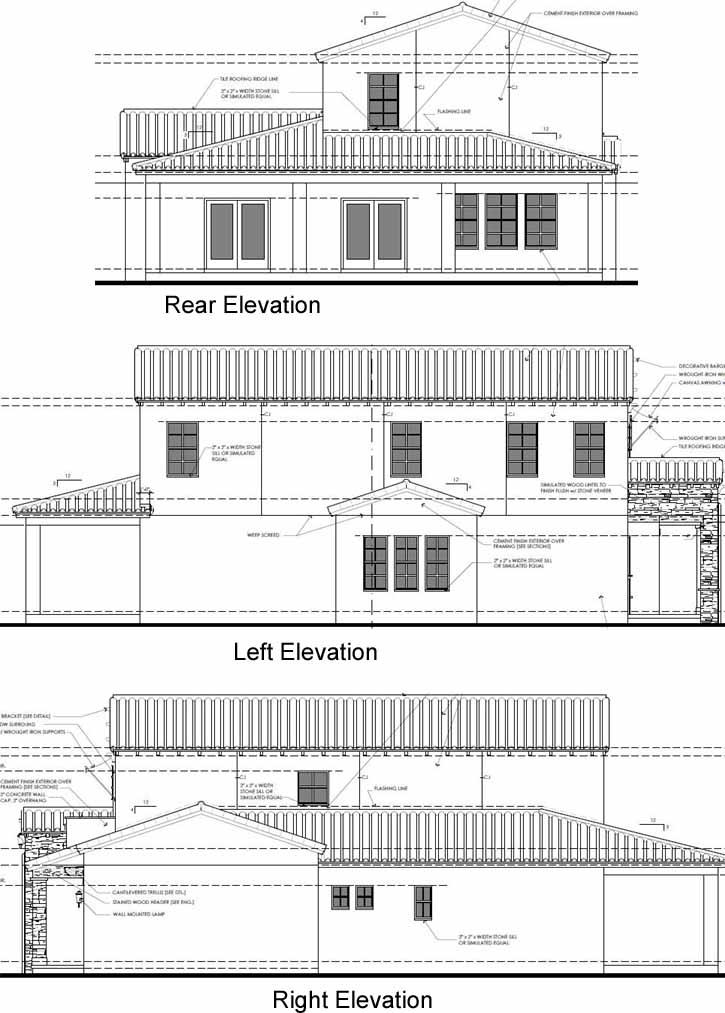 Rear Elevation Plan: 95-170