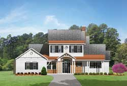 Country Style Floor Plans Plan: 95-172