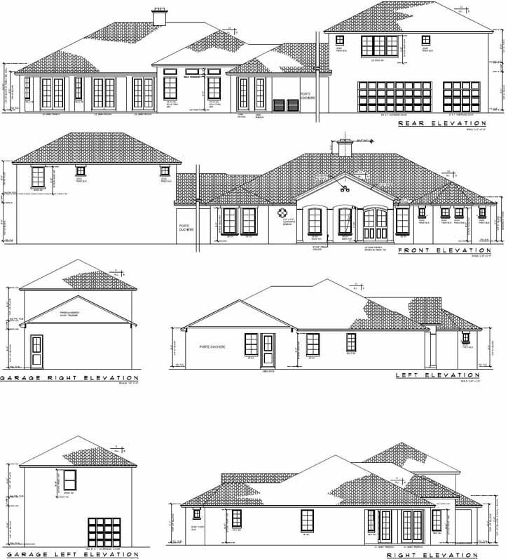 Rear Elevation Plan: 95-173
