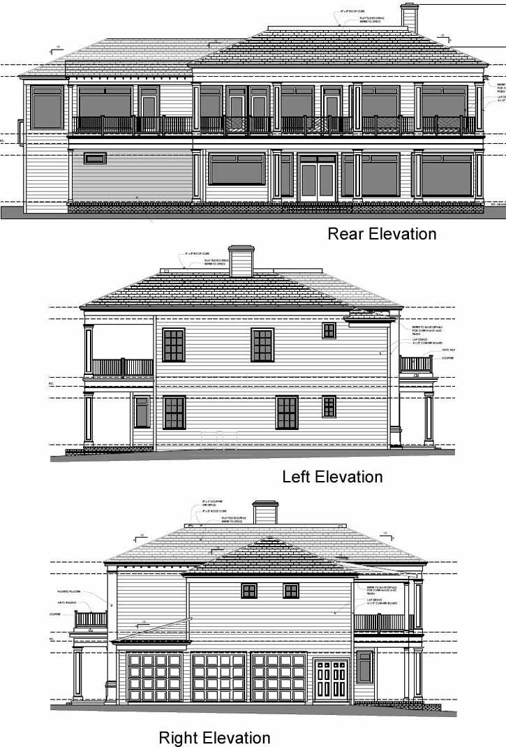 Rear Elevation Plan: 95-175