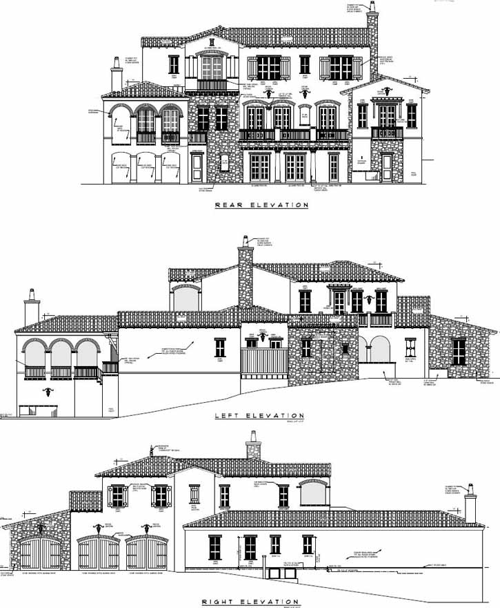 Rear Elevations Plan:95-176