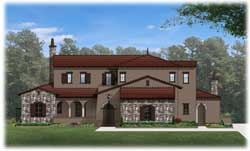 Spanish Style Home Design Plan: 95-176