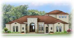 Spanish Style Home Design Plan: 95-178