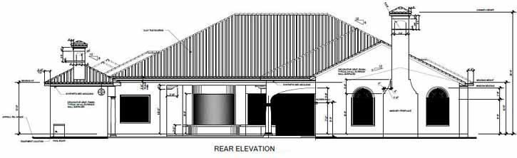 Rear Elevation Plan: 95-179