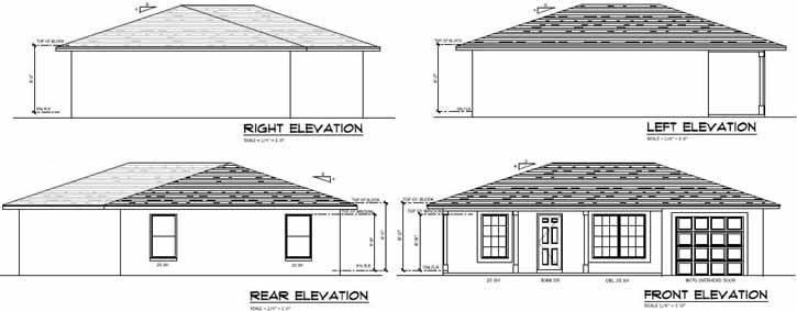 Rear Elevation Plan: 95-180