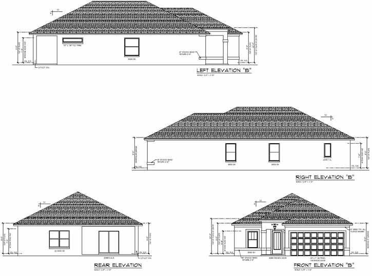 Rear Elevation Plan: 95-182