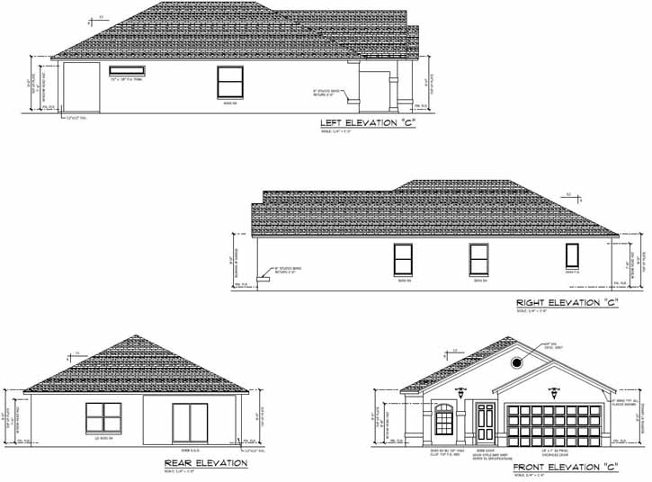 Rear Elevation Plan: 95-183