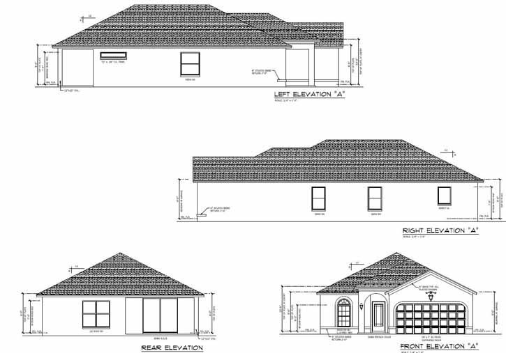 Rear Elevation Plan: 95-186