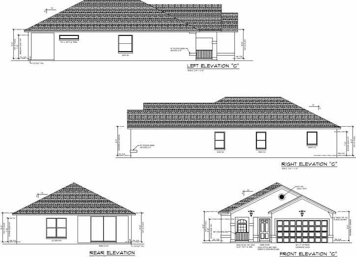 Rear Elevation Plan: 95-188