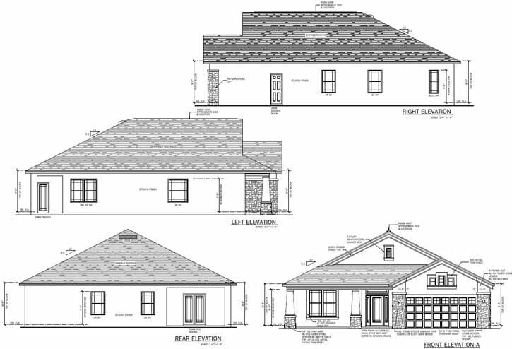 Rear Elevation Plan: 95-189