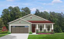 Craftsman Style Home Design Plan: 95-191