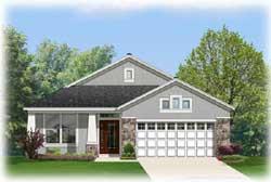 Craftsman Style Home Design Plan: 95-192