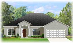 European Style Home Design Plan: 95-194