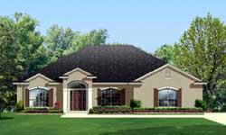 European Style Home Design Plan: 95-195