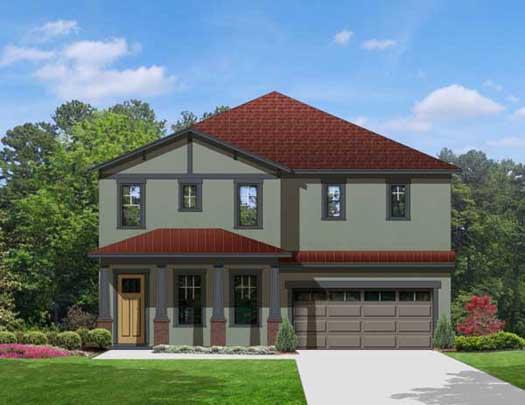 Craftsman Style Home Design Plan: 95-197