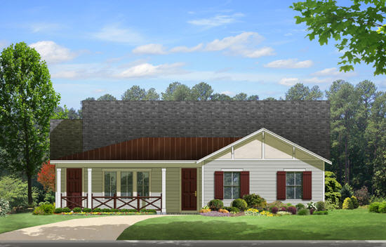 Ranch Style Home Design Plan: 95-198