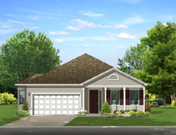 Traditional Style Home Design Plan: 95-208