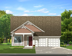 Country Style Home Design Plan: 95-213