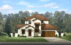 Spanish Style Home Design Plan: 95-224
