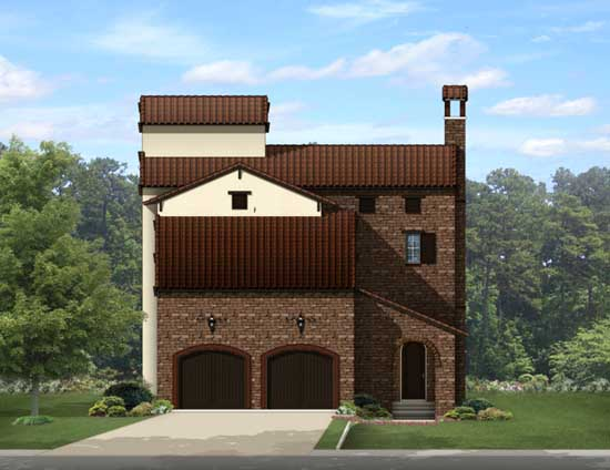 Italian Style Floor Plans Plan: 95-227