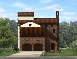 Italian Style House Plans Plan: 95-227