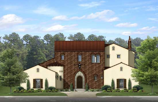 Italian Style House Plans Plan: 95-228