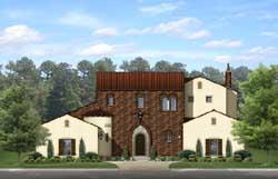 Italian Style Home Design Plan: 95-228