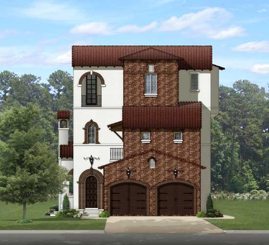 Italian Style House Plans Plan: 95-230