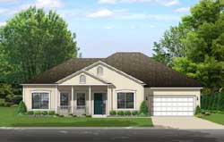 Country Style Home Design Plan: 95-241