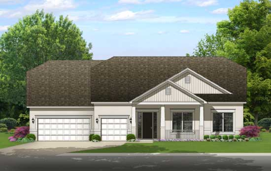 Traditional Style Home Design Plan: 95-251