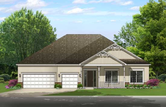 Country Style Floor Plans Plan: 95-252