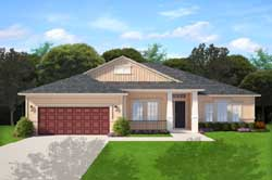 Traditional Style Home Design Plan: 95-254