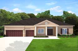 Traditional Style Home Design Plan: 95-256