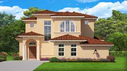 Spanish Style Home Design Plan: 95-275