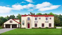 Italian Style Home Design Plan: 95-278