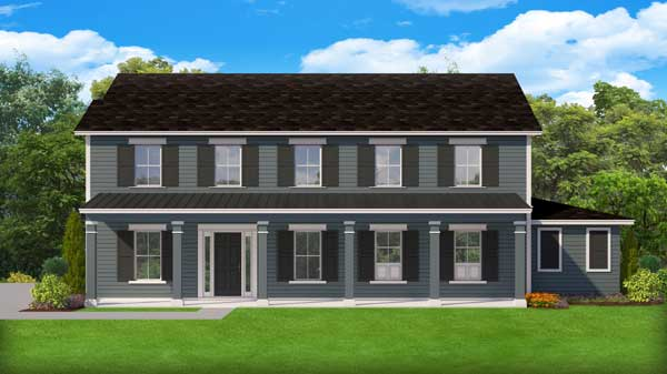 New-england-colonial Style Home Design Plan: 95-279