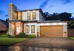 Modern Style Home Design Plan: 95-283