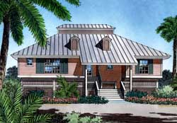 Coastal Style Home Design Plan: 96-102
