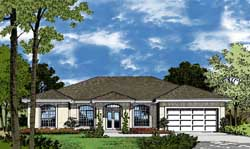 Sunbelt Style Home Design 96-105