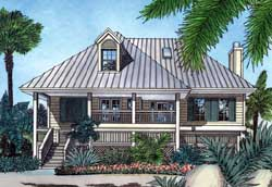 Coastal Style Floor Plans Plan: 96-107